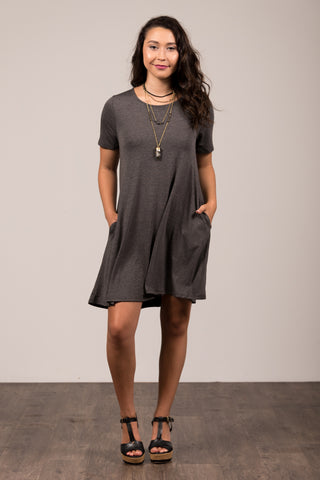 Montauk Swing Dress in Charcoal