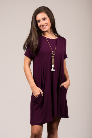 Montauk Swing Dress in Wine