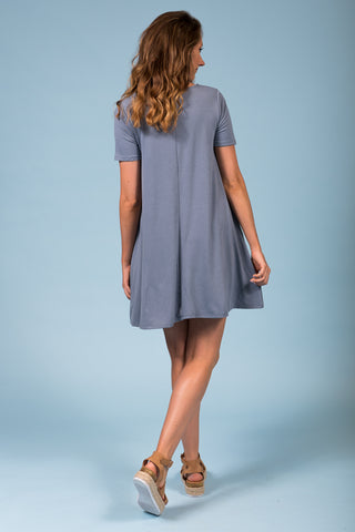 Montauk Swing Dress in Cement