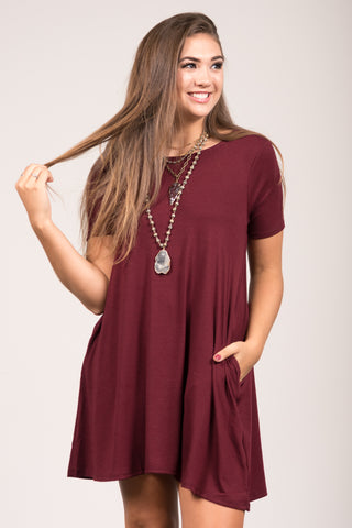 Montauk Swing Dress in Dark Burgundy