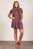 Montauk Swing Dress in Dark Eggplant