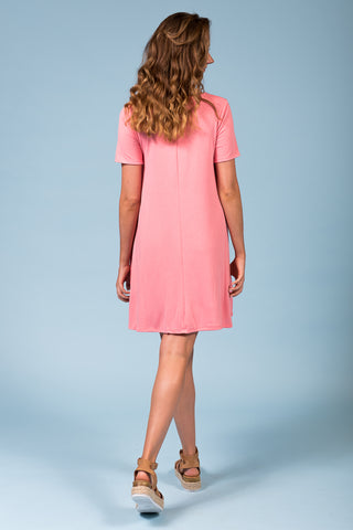 Montauk Swing Dress in Rose Pink