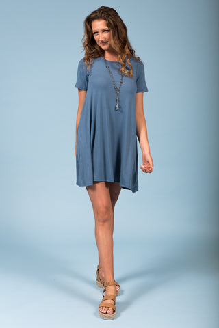 Montauk Swing Dress in Titanium