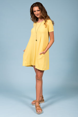 Montauk Swing Dress in Yellow