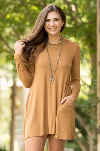 Tarrytown Dress Long Sleeves in Coffee