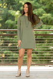 Tarrytown Dress Long Sleeves in Light Olive