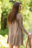 Tarrytown Dress Long Sleeves in Mocha