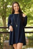 Tarrytown Dress Long Sleeves in Navy