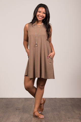 Bondi Swing Dress in Mocha