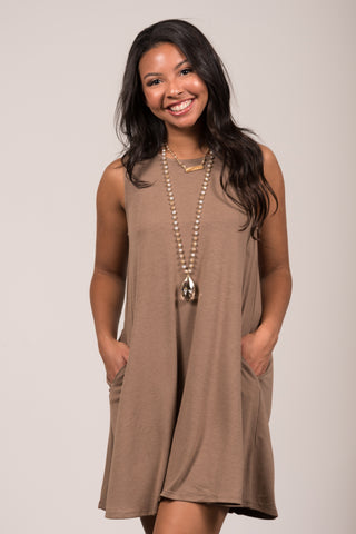 Amagansett Swing Dress in Mocha