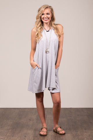 Bondi Swing Dress in Heather Grey