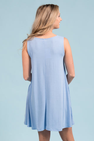 Bondi Swing Dress in Spring Blue