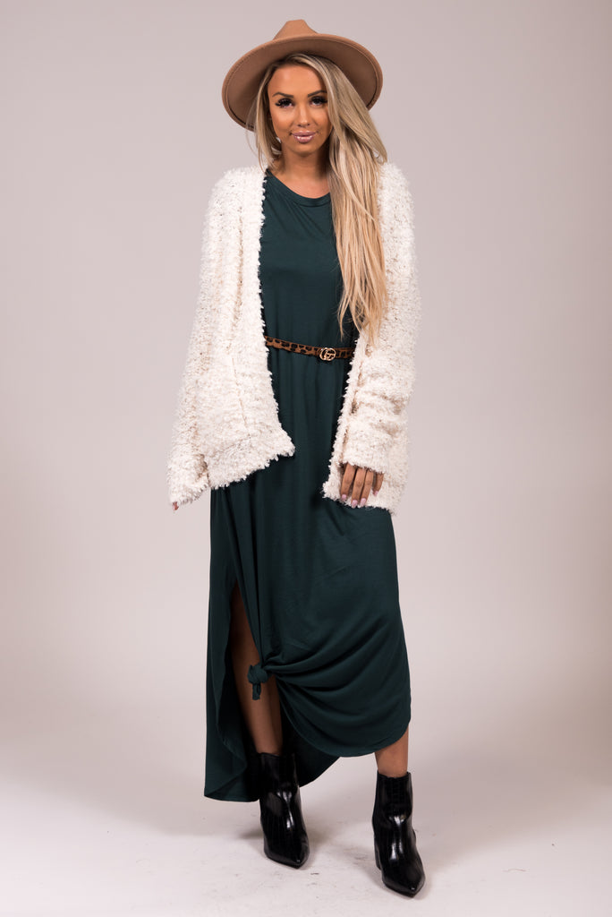 Aspen Maxi Dress in Hunter Green