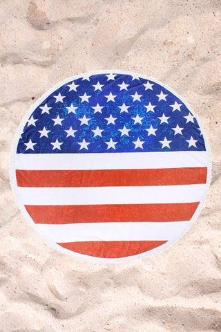 Roundie in American Flag