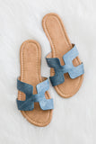 Walkin' On Sunshine Sandals in Denim