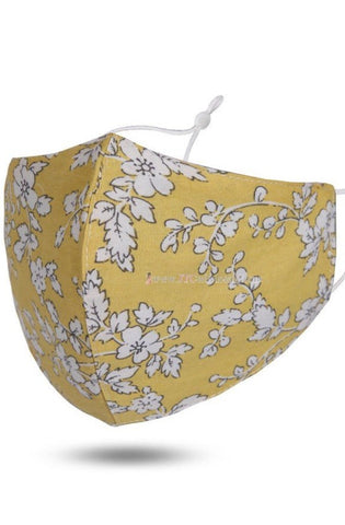 Face Mask - Yellow Floral