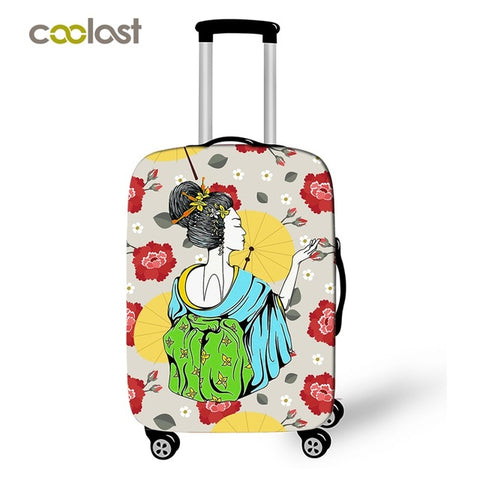 Cute Geisha Luggage Cover