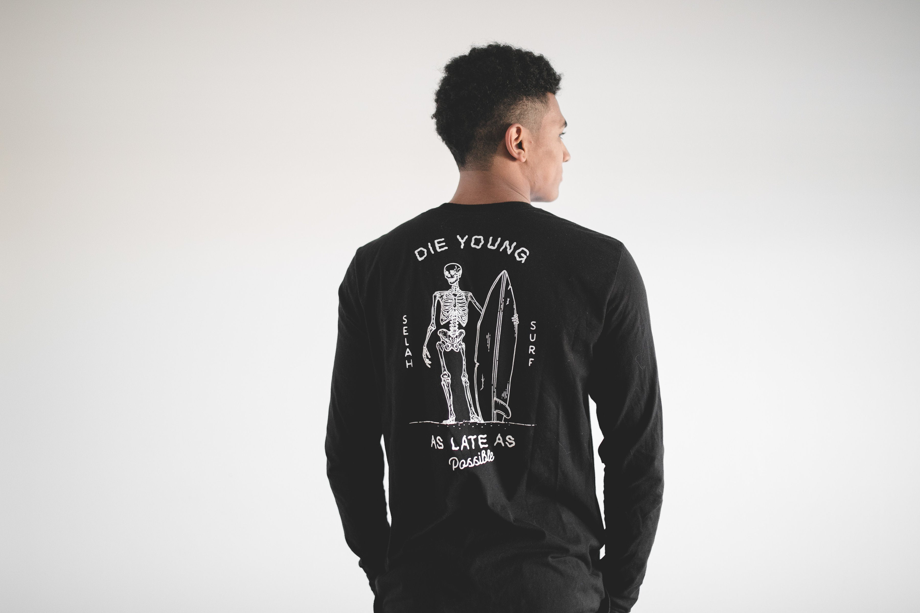 Die Young as Late as Possible-Long Sleeve Shirt
