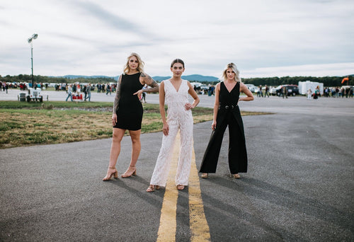group shot of lace jumpsuit