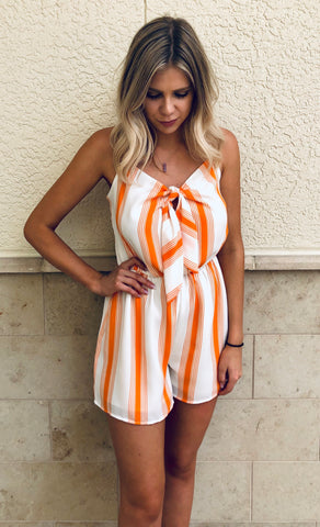 Sippin' Sweet Tea Romper in White Eyelet
