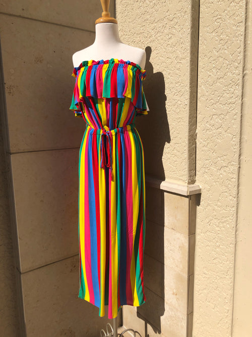 front view of carnival cutie jumpsuit
