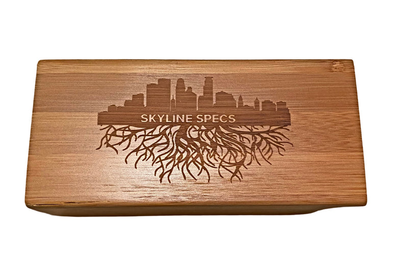 Engraved Wooden Case - Skyline Specs