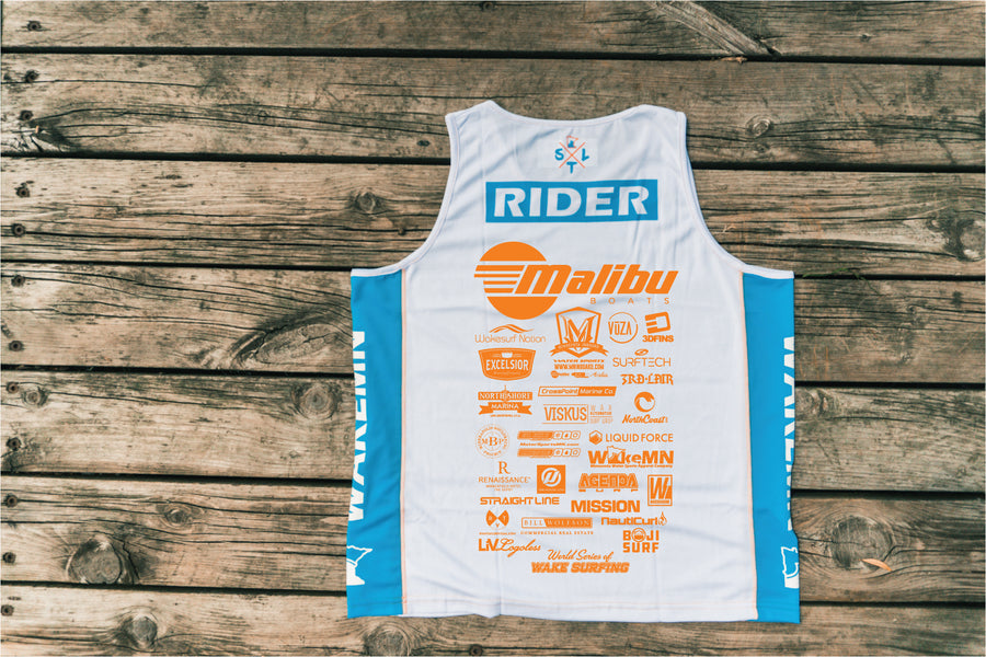 2018 10k Lakes  Jersey - White/Blue/Orange