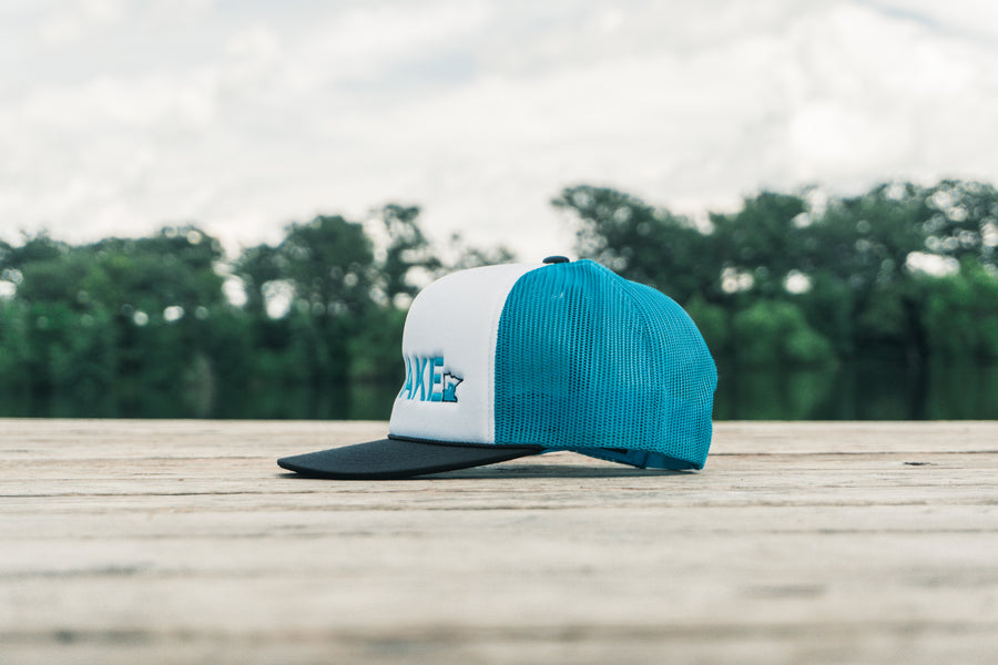 Save the Wake Trucker - White/Blue