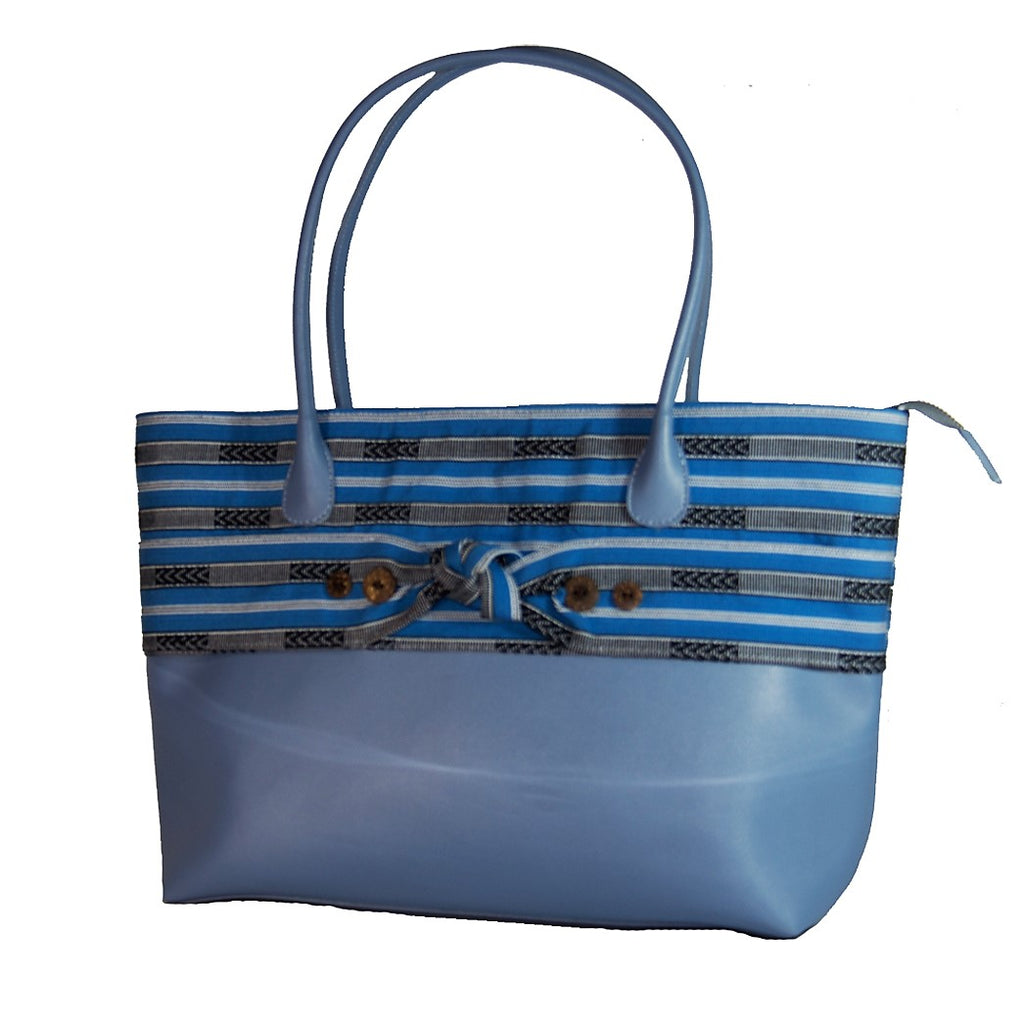 The Indigenous Collection - Tote Bag in Light Blue.