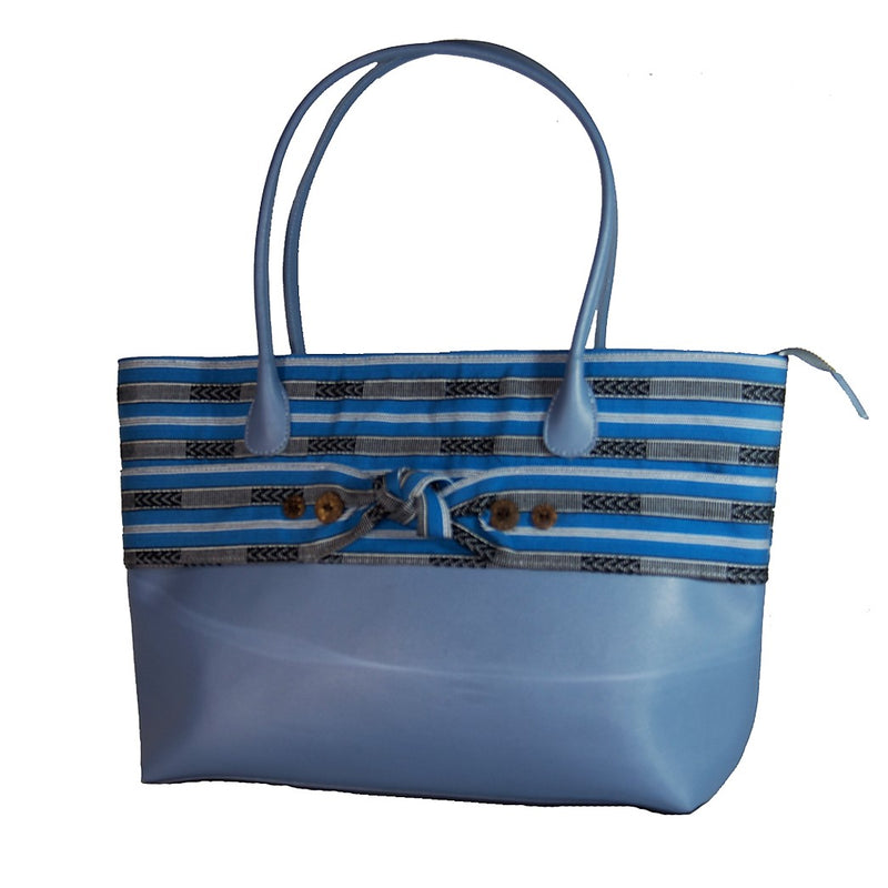 The Indigenous Collection - Tote Bag in Light Blue