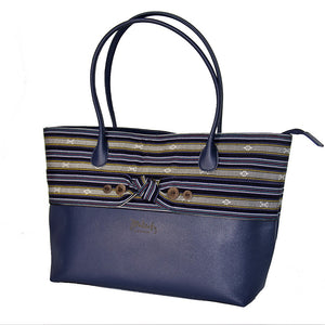 The Indigenous Collection - Tote Bag in Navy Blue.