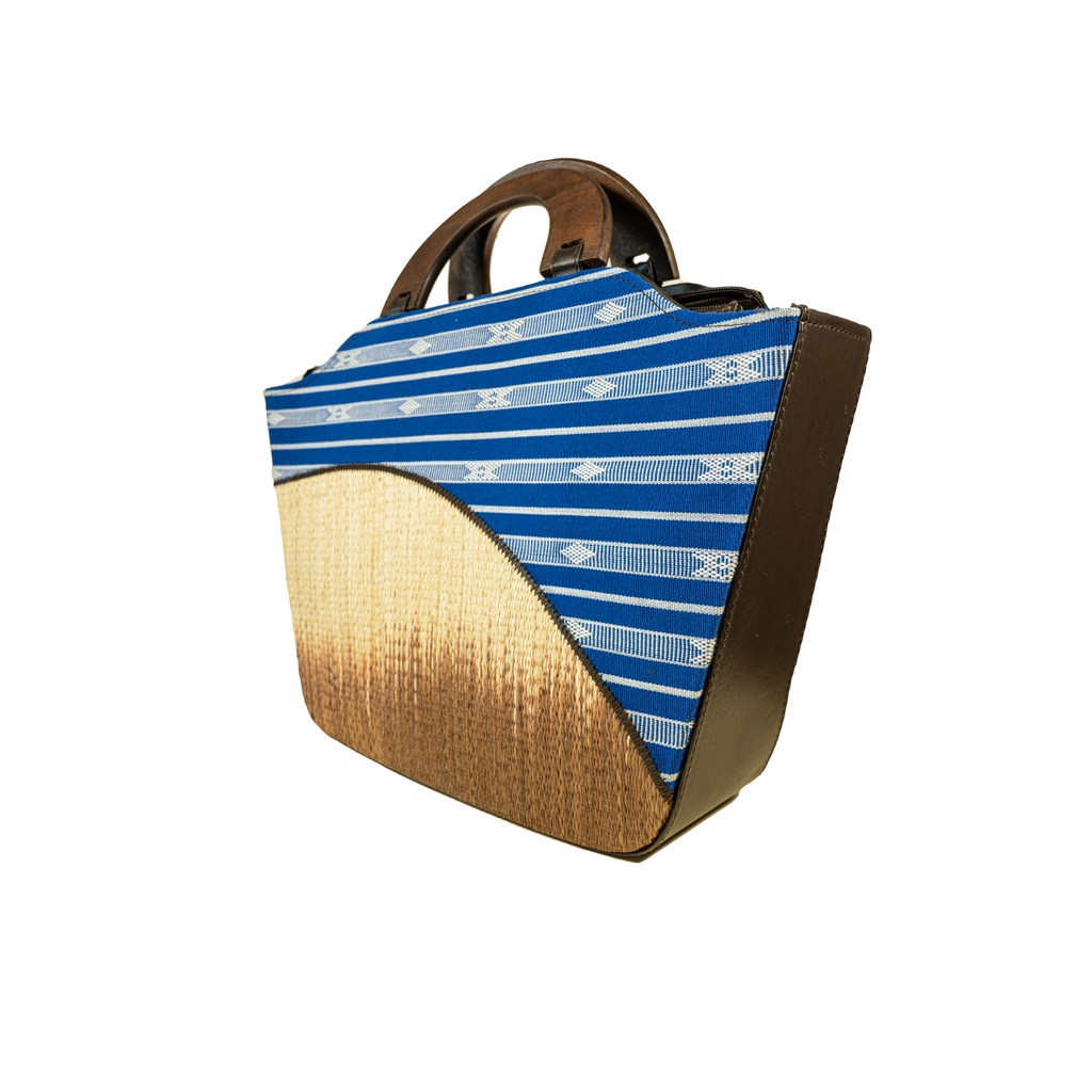 The Indigenous Collection - Frame Handbag in Blue.