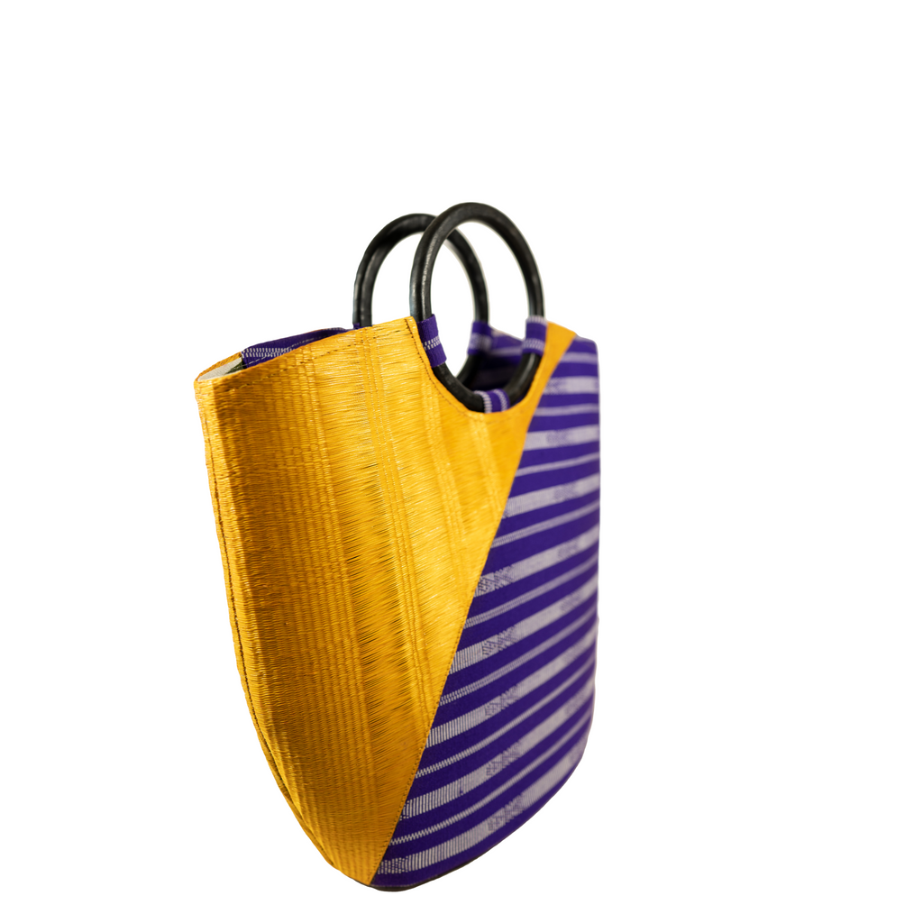 The Indigenous Collection - Frame Handbag in Yellow.
