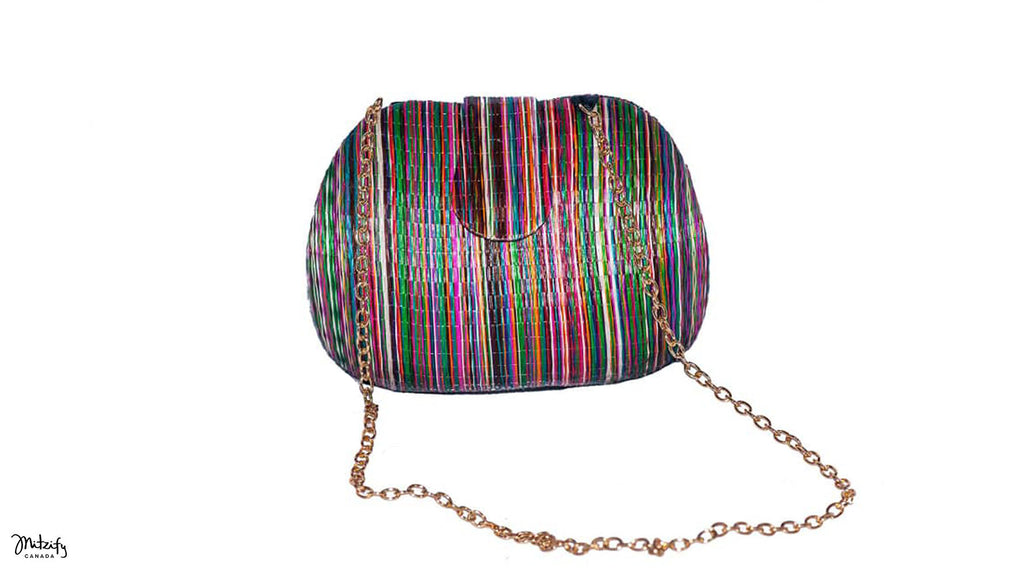 Colorful Buntal Clutch Bag