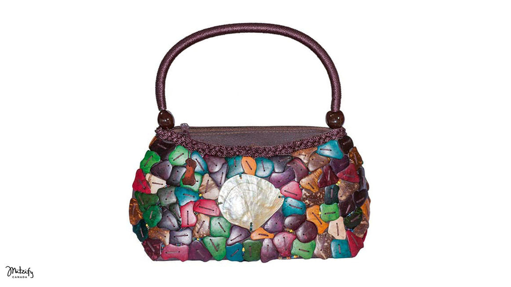 Mother of Pearl Bag in Diane Crazy Cut.