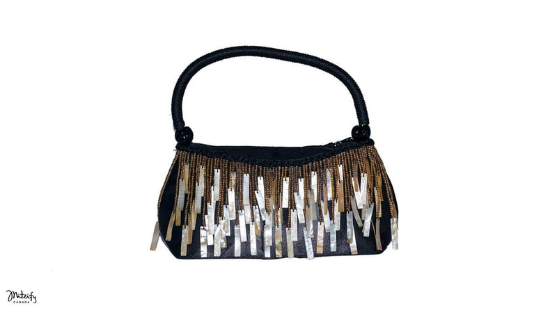Mother of Pearl Stick Evening Bag