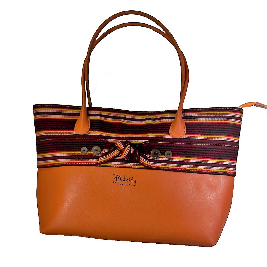 The Indigenous Collection - Tote Bag in Orange.