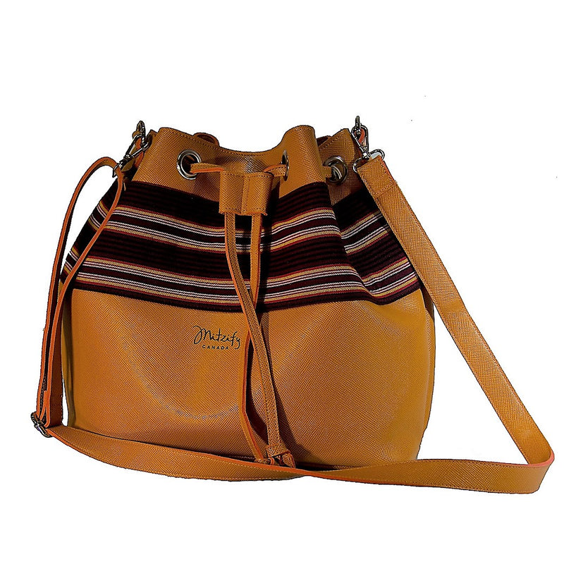 The Indigenous Collection - Bucket Bag in Mustard