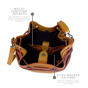 The Indigenous Collection - Bucket Bag in Mustard.