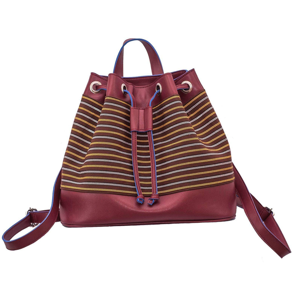 The Indigenous Collection - Backpack in Maroon.