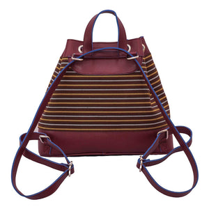 The Indigenous Collection - Backpack in Maroon