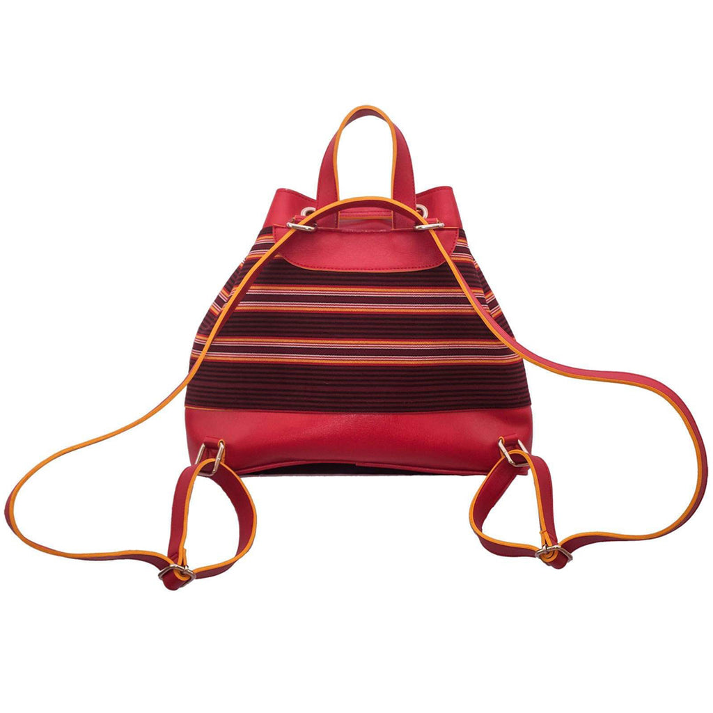 The Indigenous Collection - Backpack in Red.