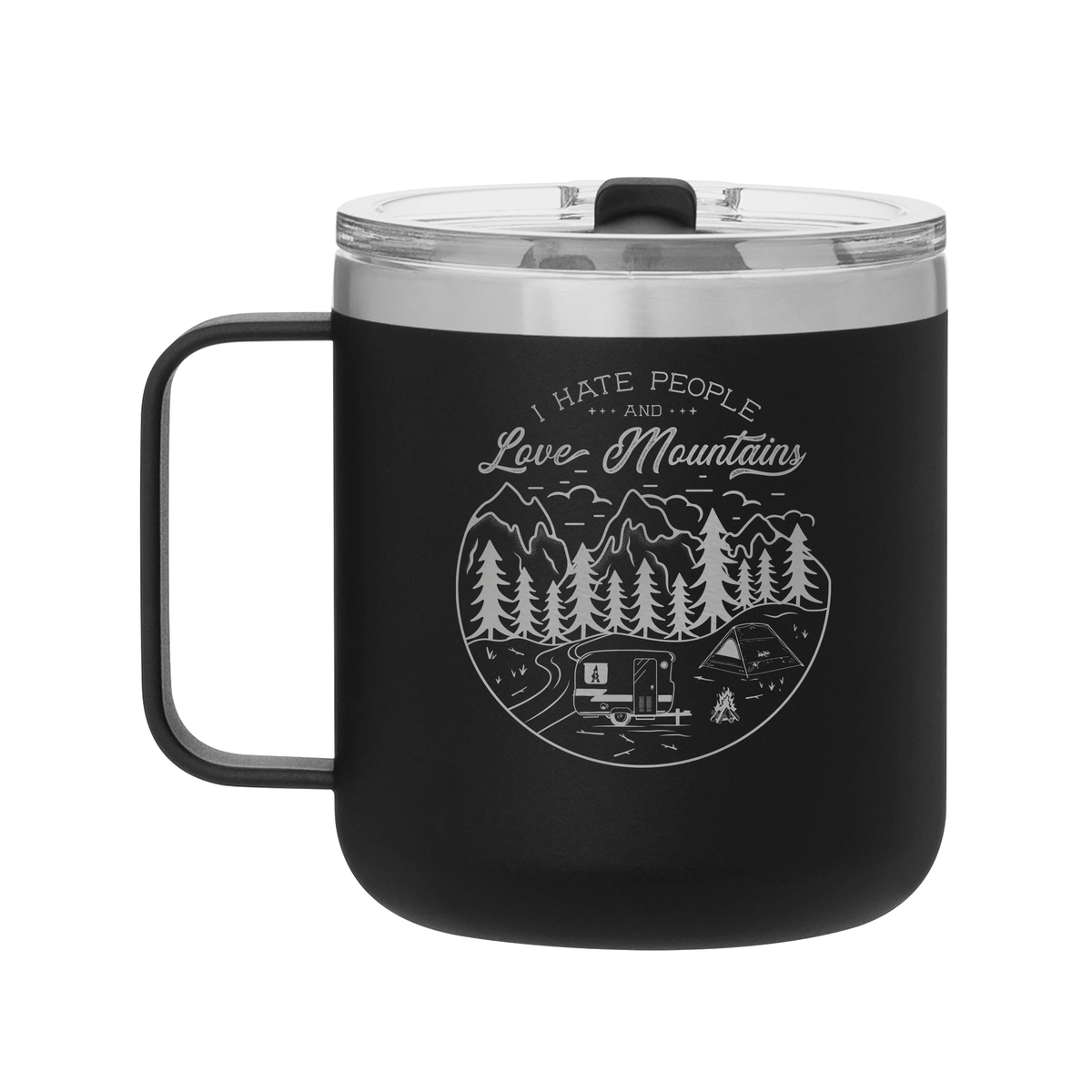 I Hate People and Love Mountains Camp Mug-Maddie & Co.