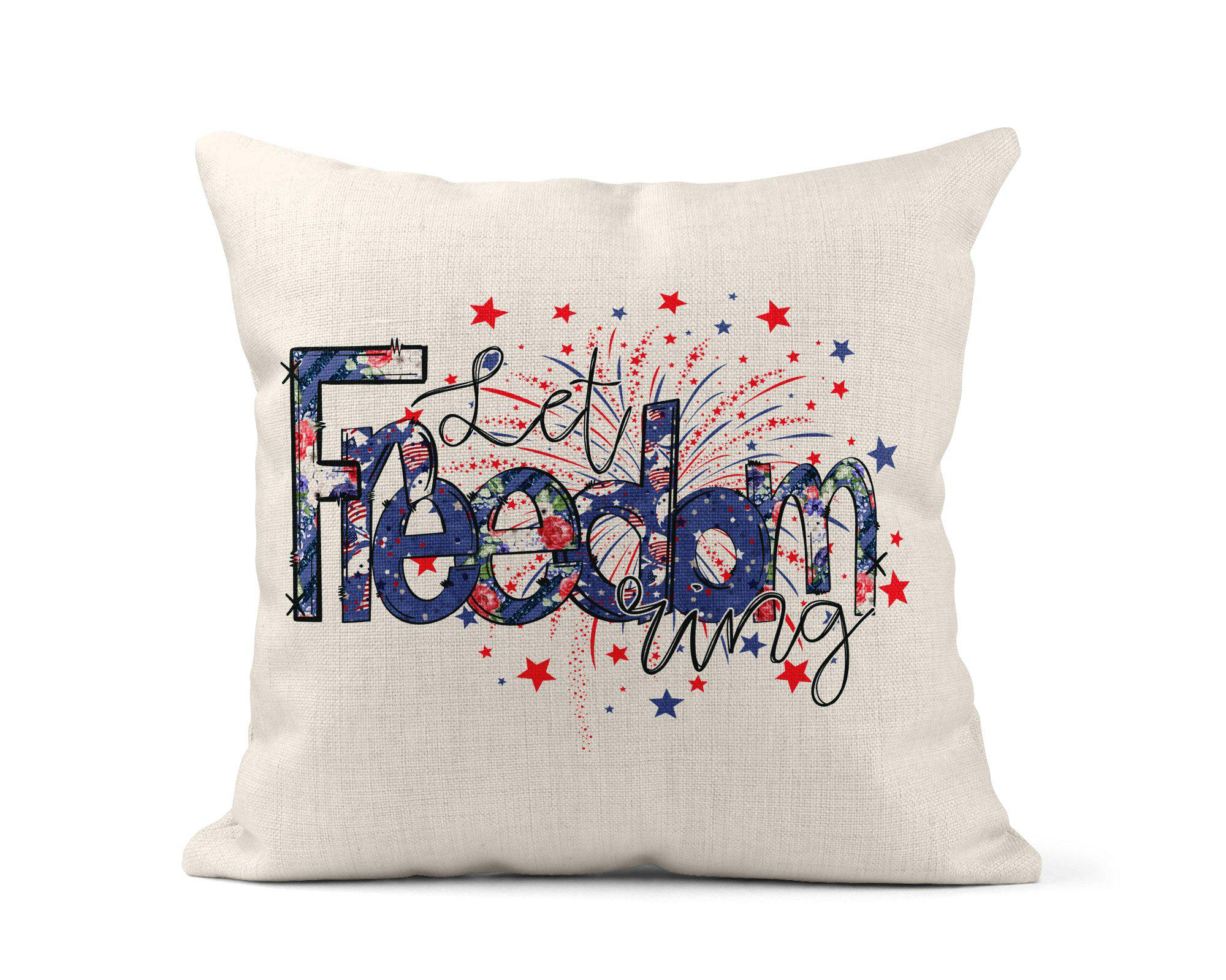 Let Freedom Ring Throw Pillow-Home Decor-Maddie & Co.