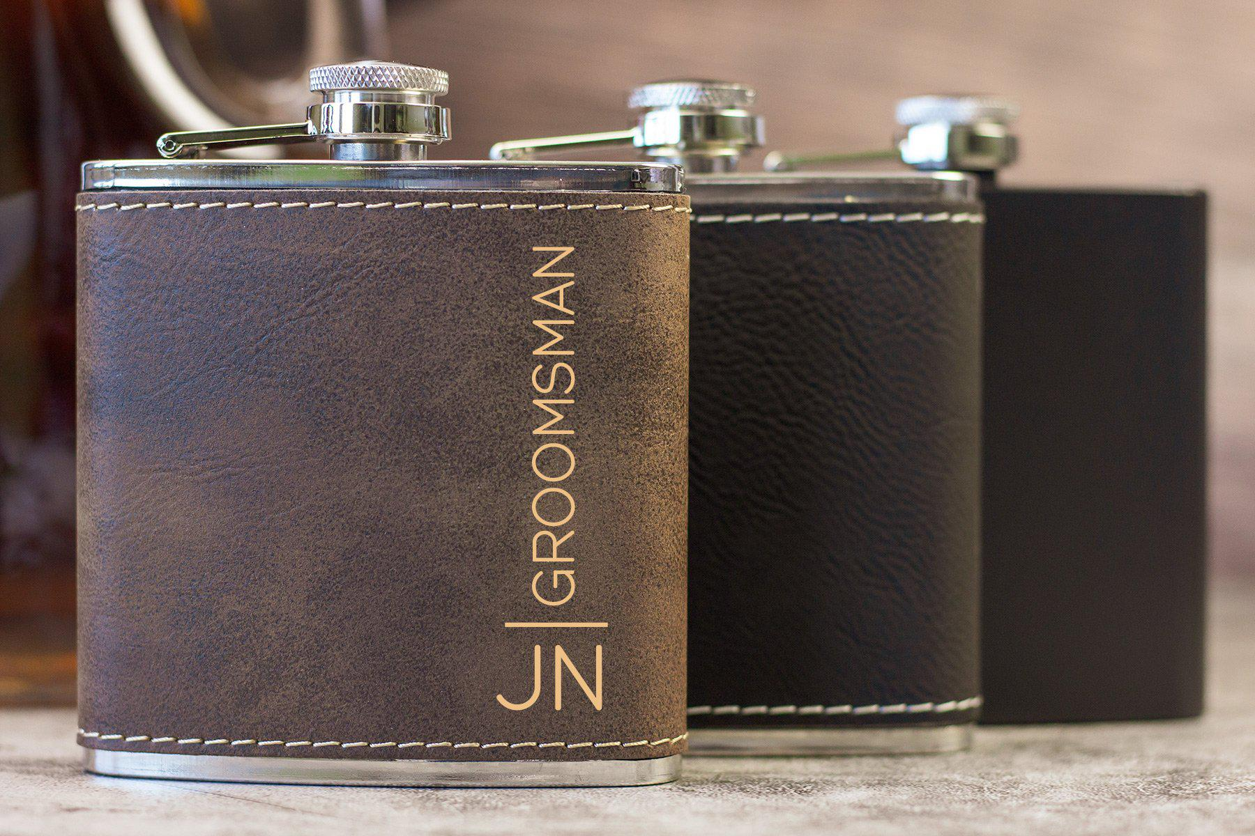Groomsman Flask-Flask-Maddie & Co.