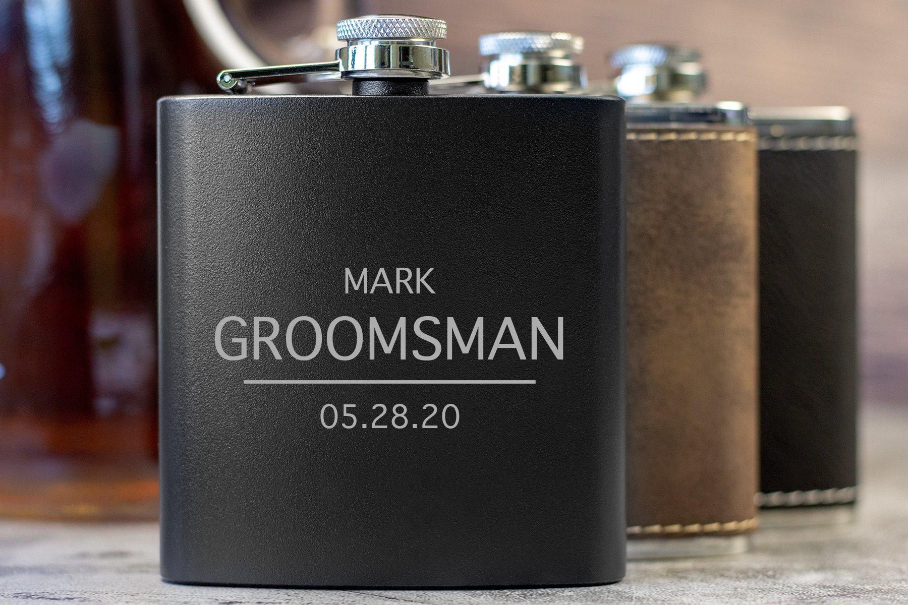 Groomsman Date Flask-Flask-Maddie & Co.