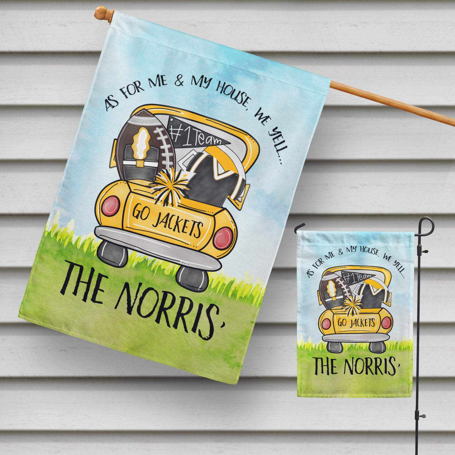 Yellow Jackets Garden Flag-Maddie & Co.
