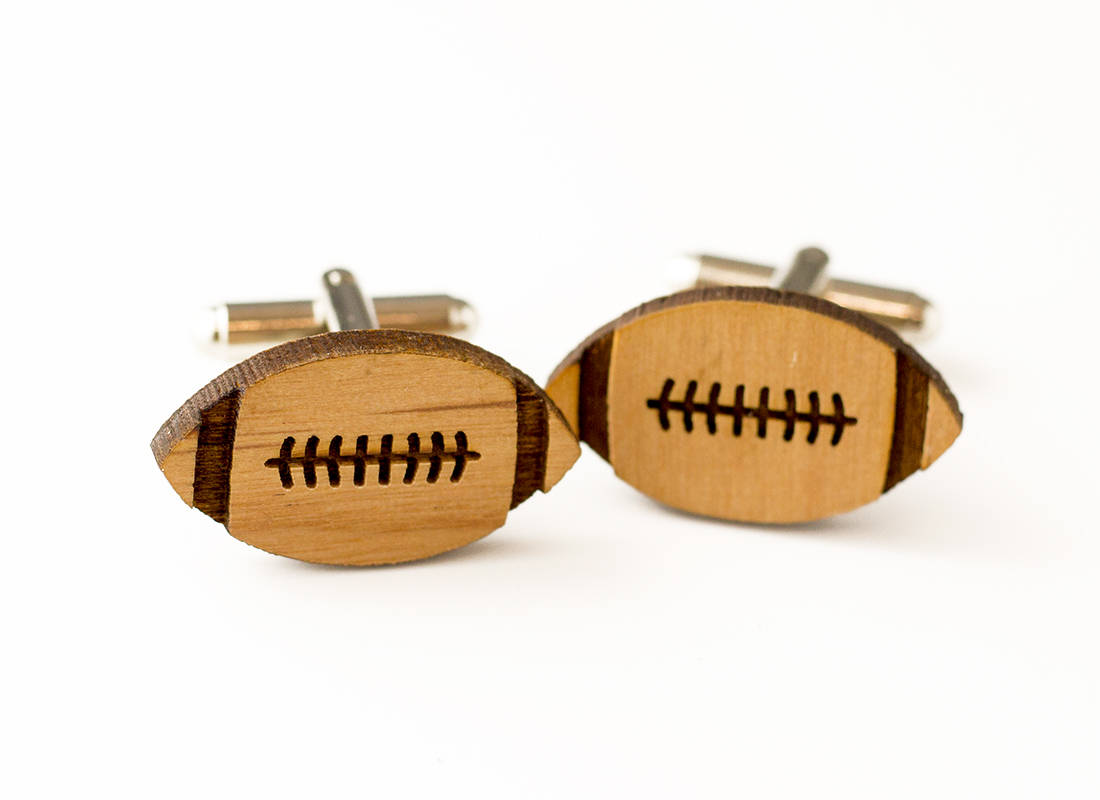 Football Cuff links-Groomsmen Gift-Maddie & Co.