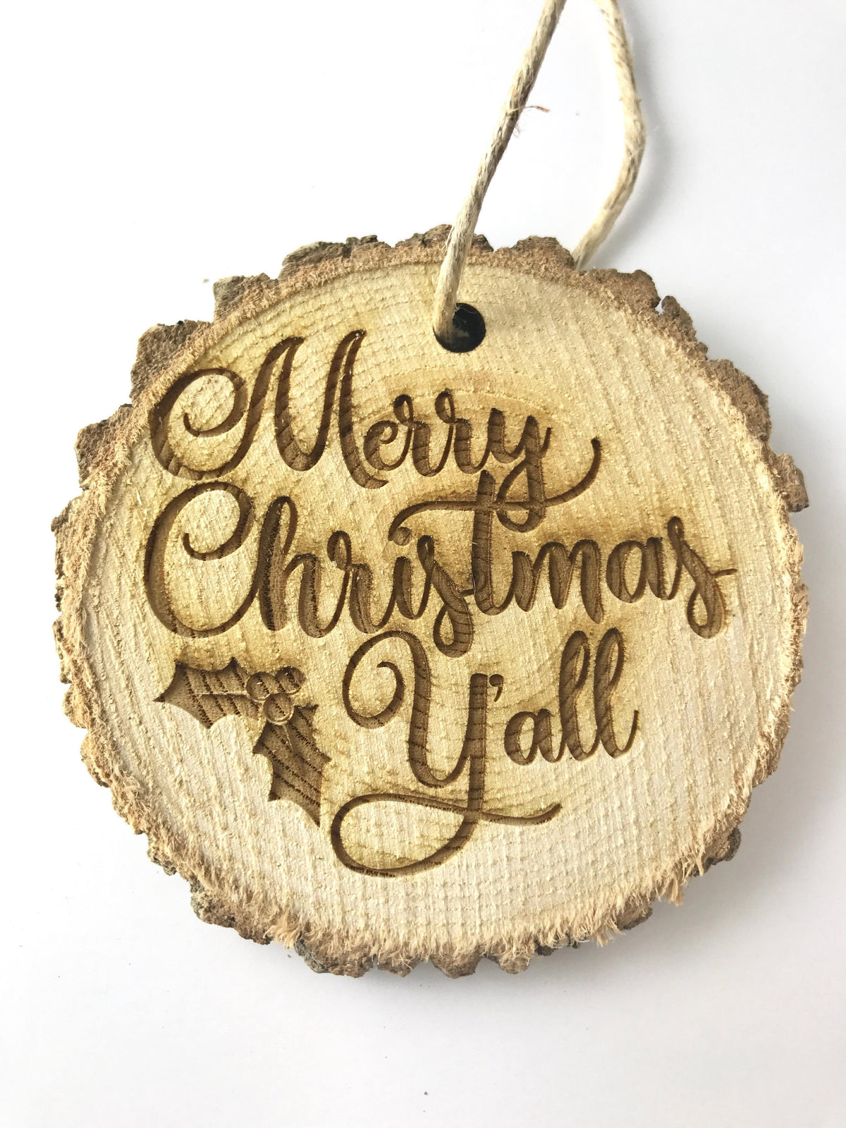 Merry Christmas Yall Rustic Christmas Ornament-Ornaments-Maddie & Co.
