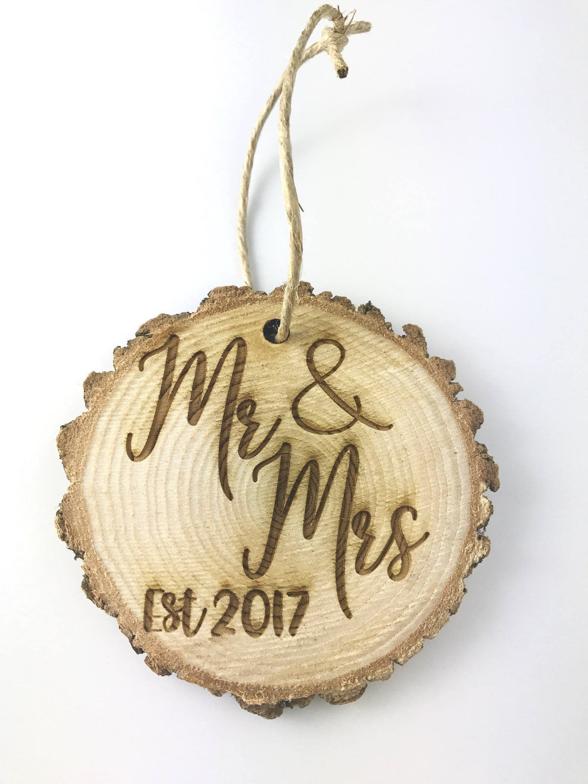 Mr and Mrs Custom Rustic Christmas Ornament-Ornaments-Maddie & Co.